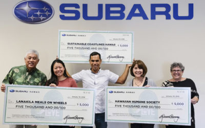 Subaru Hawaii's Share the Love Sales Campaign Benefits Six Local Nonprofits